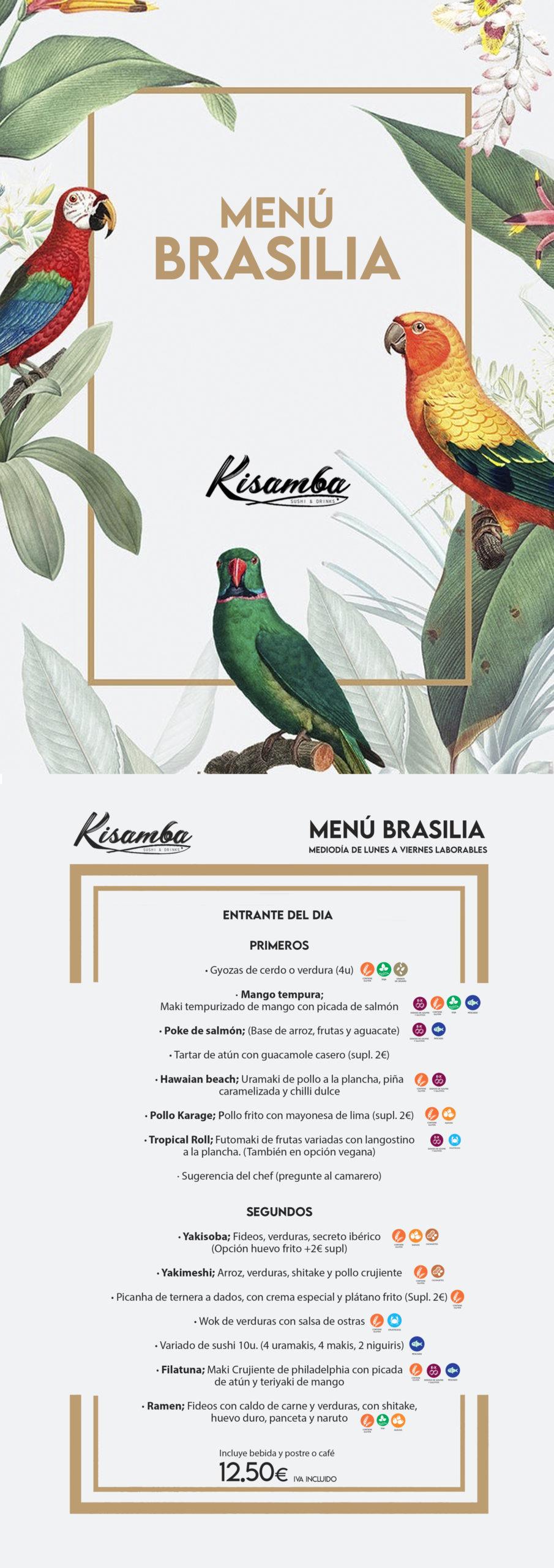 menu Brasilia mediodía